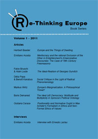 Publication: Re-thinking Europe Vol. 1