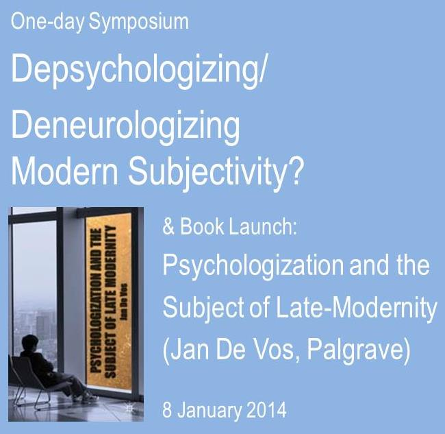 book launch PALGRAVE Psychologization